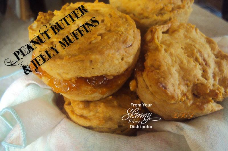 Peanut Butter and Jelly Muffins | Skinnys Love to Cook